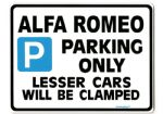 Alfa Romeo Large Sign for 146 156 gtv 155 ts 3.0 v6